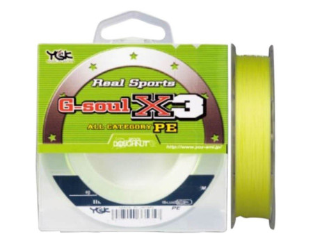 Шнур YGK G-soul X3 /100m (#1.2/20lb(9,07kg)