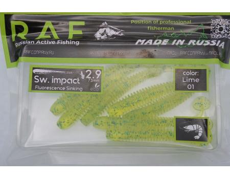 """Силикон Raf Sw. Impact 2.9"""" Lime 01"""