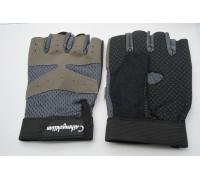 Перчатки Gloves без пальцев сетка вставкииз замши