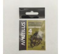 Крючки Nautilus Sting Carp Curved Shank S-1148BN № 4