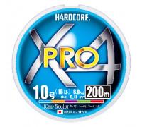 Шнур Duel PE Hardcore X4 Pro 200 м. #1.0 5 Color 0.17 мм. 8.0 кг.