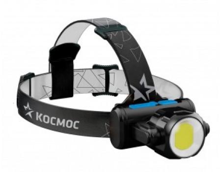 Фонарь Cosmos налобный  KOCH5WLi-On (лит.акк.3,7V1,2Ah) 1св/д XPE 3W+COB 5W,240lm+300lm з/у micro US